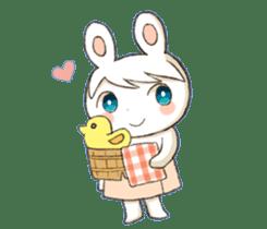 Pretty rabbit Sticker01 sticker #13415162