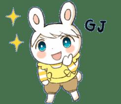 Pretty rabbit Sticker01 sticker #13415165
