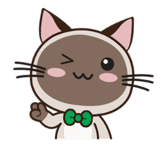 Chokdee Cute Cat DukDik1 sticker #13423494