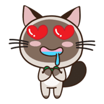 Chokdee Cute Cat DukDik1 sticker #13423499
