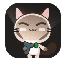 Chokdee Cute Cat DukDik1 sticker #13423501