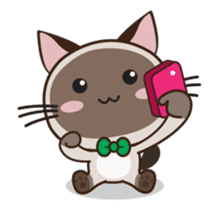 Chokdee Cute Cat DukDik1 sticker #13423505