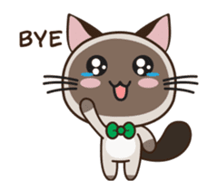 Chokdee Cute Cat DukDik1 sticker #13423514
