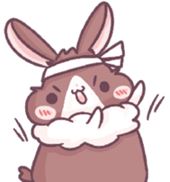 Bunny-Caramel sticker #13429394