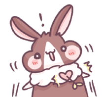 Bunny-Caramel sticker #13429399