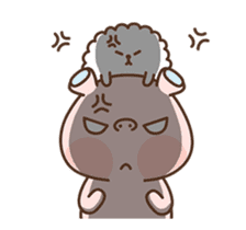 Hippo & Somi sticker #13433296