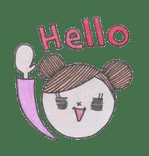 Honest person Odango-chan sticker #13435702