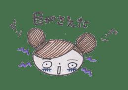 Honest person Odango-chan sticker #13435707