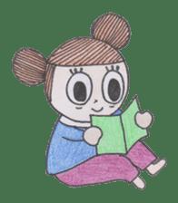 Honest person Odango-chan sticker #13435713