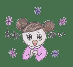Honest person Odango-chan sticker #13435724