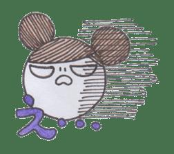 Honest person Odango-chan sticker #13435732