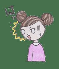 Honest person Odango-chan sticker #13435735