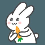 สติ๊กเกอร์ไลน์ กระต่ายน้อย เบบี้ (ดุ๊กดิ๊ก)
