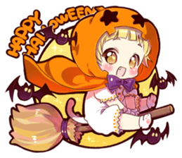 Autumn and winter of a cat ear sticker #13453446