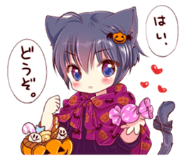 Autumn and winter of a cat ear sticker #13453452