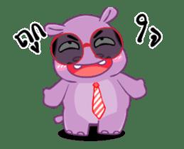 Hippo Hippy sticker #13453553