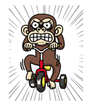 Crazy Funky Monkey2 sticker #13456271