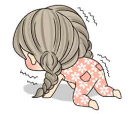 Unna mini girl (Eng) sticker #13456338