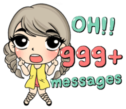 Unna mini girl (Eng) sticker #13456339