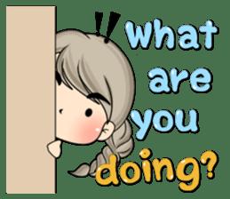 Unna mini girl (Eng) sticker #13456346