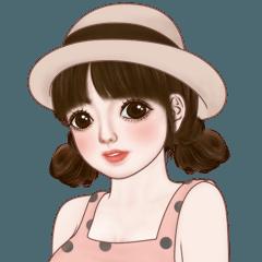 มิริน (Pastel girl big sticker)!!