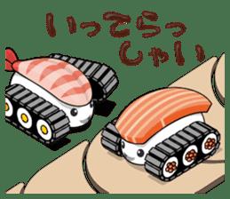 Sushi Tank-1 sticker #13461135