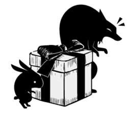 Shadowgraph wolf sticker #13461685