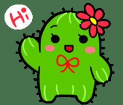 Fat cute cactus sticker #13481718