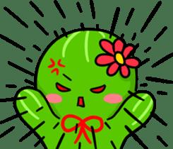 Fat cute cactus sticker #13481721