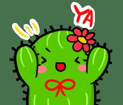 Fat cute cactus sticker #13481722