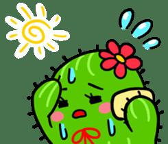 Fat cute cactus sticker #13481723