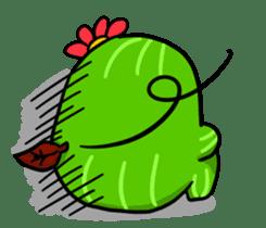 Fat cute cactus sticker #13481724