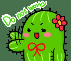 Fat cute cactus sticker #13481729