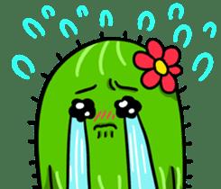 Fat cute cactus sticker #13481730