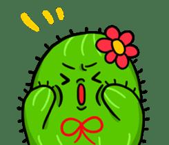 Fat cute cactus sticker #13481732