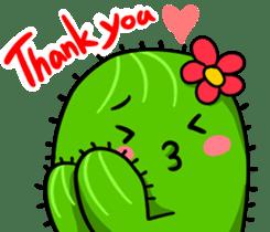 Fat cute cactus sticker #13481734