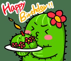 Fat cute cactus sticker #13481736