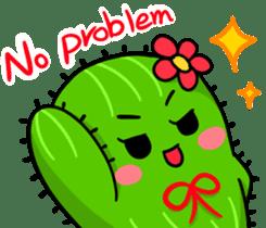 Fat cute cactus sticker #13481737