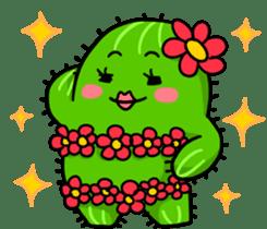 Fat cute cactus sticker #13481738
