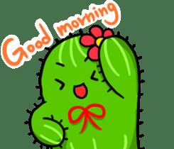 Fat cute cactus sticker #13481739