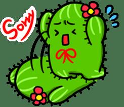 Fat cute cactus sticker #13481740
