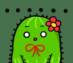 Fat cute cactus sticker #13481742