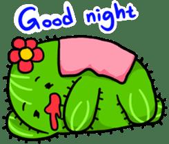 Fat cute cactus sticker #13481743