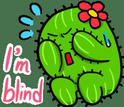 Fat cute cactus sticker #13481746