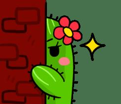 Fat cute cactus sticker #13481747