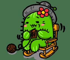 Fat cute cactus sticker #13481750