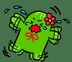 Fat cute cactus sticker #13481751