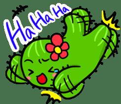 Fat cute cactus sticker #13481752