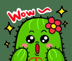 Fat cute cactus sticker #13481753