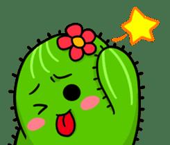 Fat cute cactus sticker #13481754